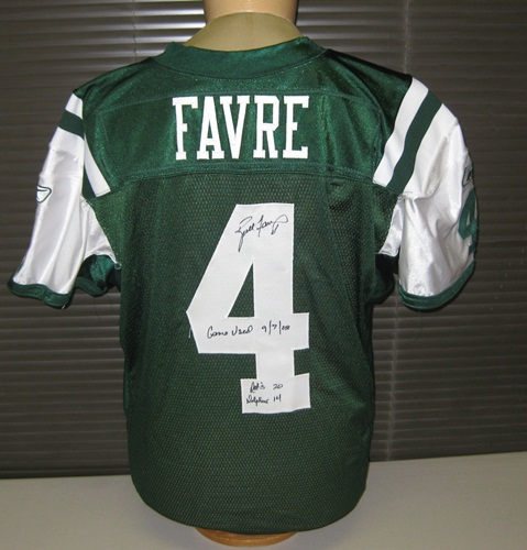 e53d1582f0d Brett Favre Autographed Game Used New York Jets Jersey 9-7-08 vs.