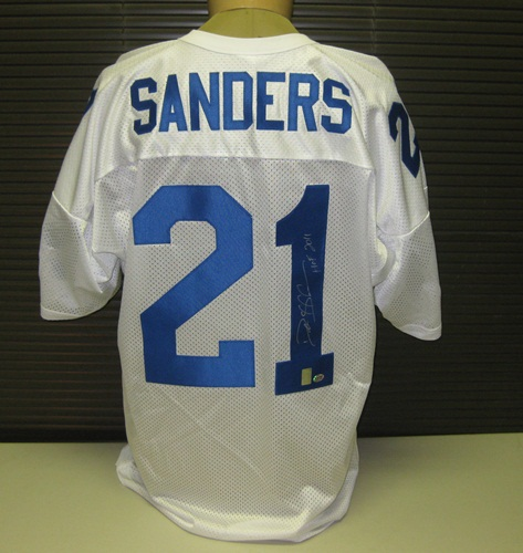 Deion Sanders Autographed Dallas Cowboys White Jersey
