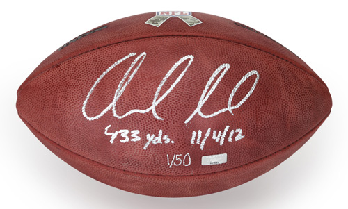 57a354a5c Andrew Luck Signed Official Wilson Salute to Service Football LE  50