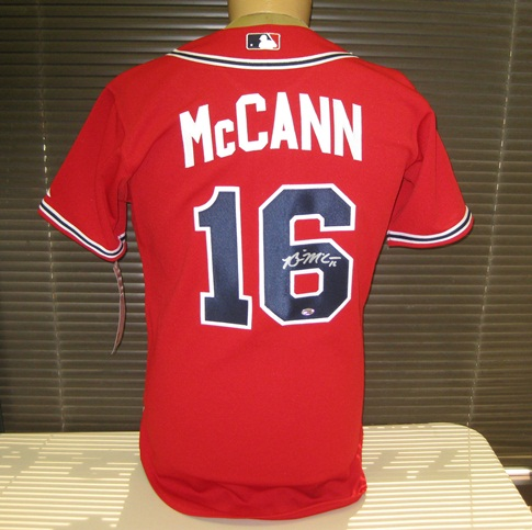 7e853dbc9 Brian McCann Autographed Atlanta Braves Authentic Red  Jersey