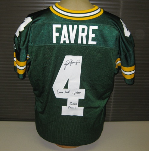 219a4e1cdea Brett Favre Autographed Game Used Green Bay Packers Jersey 11-11-07 vs.